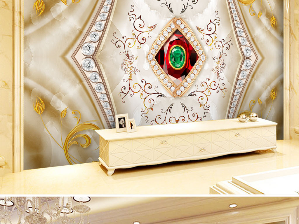 壁纸墙纸瓷砖浮雕背景欧式古典简欧珠宝欧式背景高端珠宝背景辉煌极品图片
