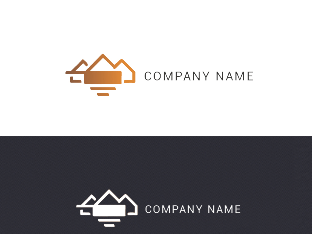 金色房地产山水logo