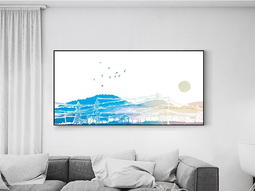 手绘小清新森系装饰画木地板白木板地中海立体风景北欧背景高清背景