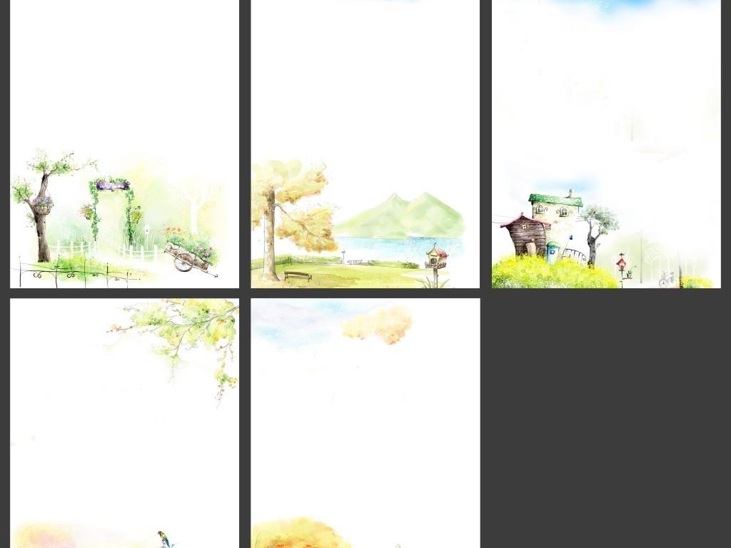 作文集封面-清新梦幻唯美封面设计