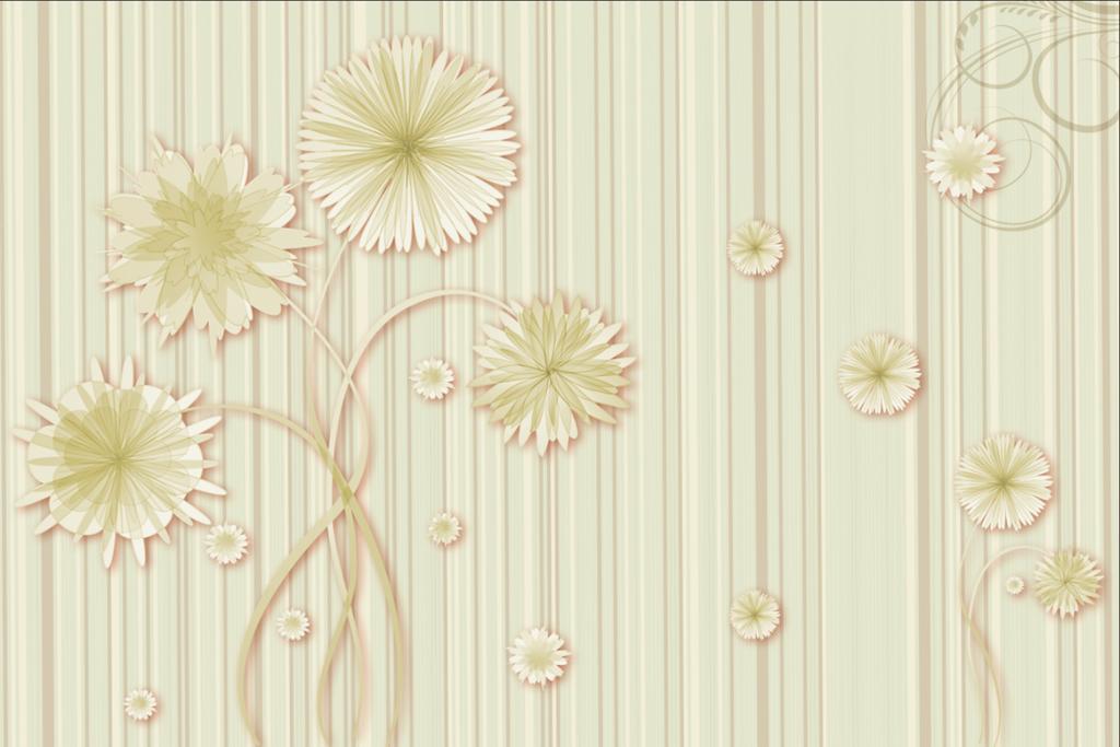 画 电视背景墙 现代简约电视背景墙 > 2016高清时尚简约清新韩式花纹图片