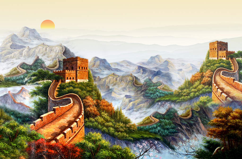 油画万里长城(图片编号:15849928)