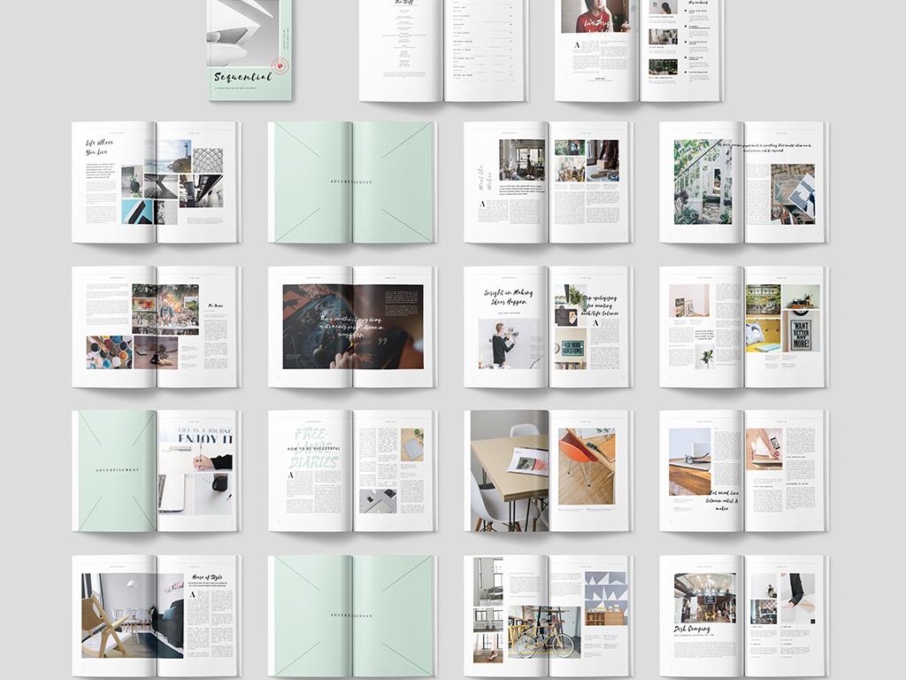 书籍封面id模板时尚画册设计时尚杂志企业模板企业