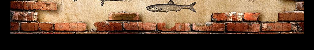 复古手绘鱼红砖墙背景墙