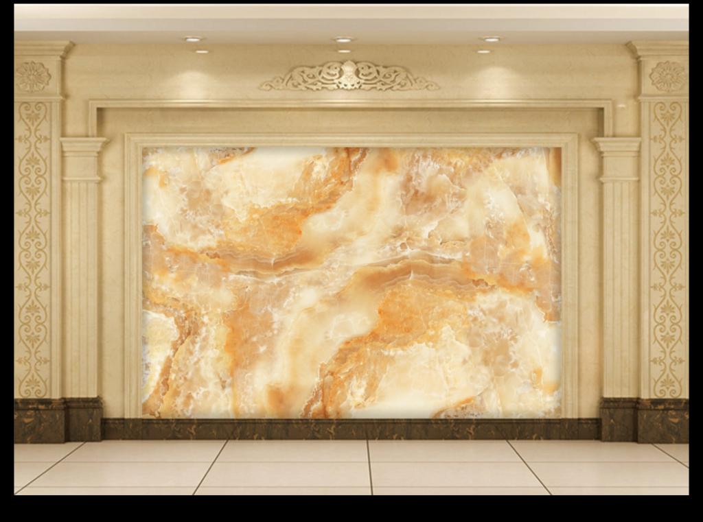 山水大理石纹玉石纹理客厅背景墙
