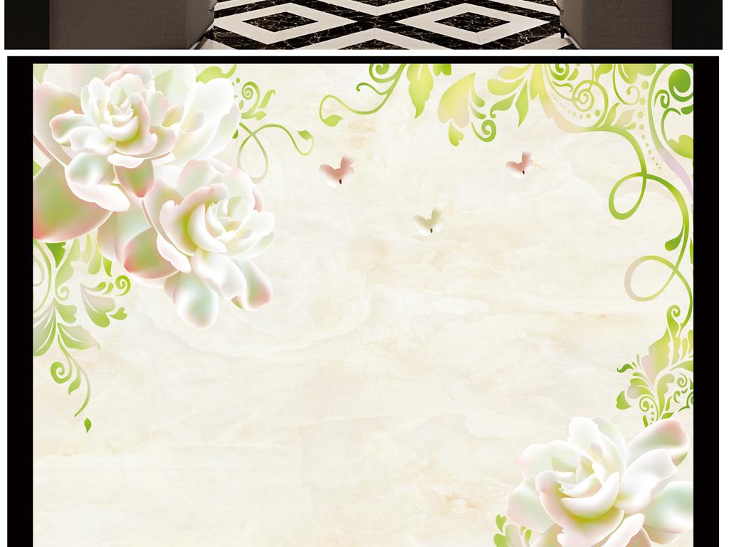 花颜玫瑰花纹欧式花纹大理石
