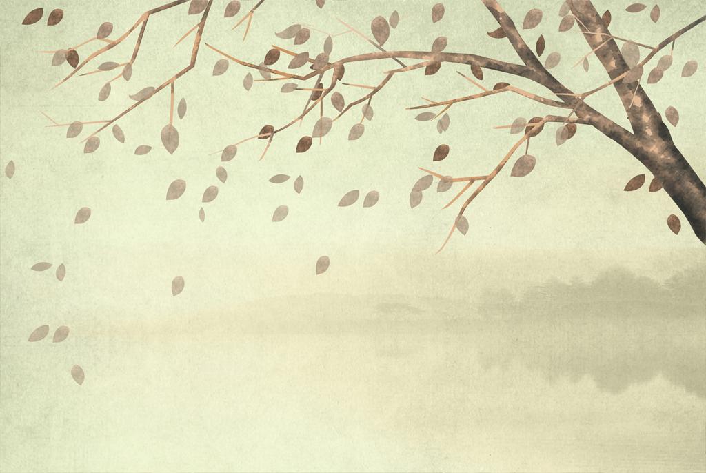 手绘复古抽象树