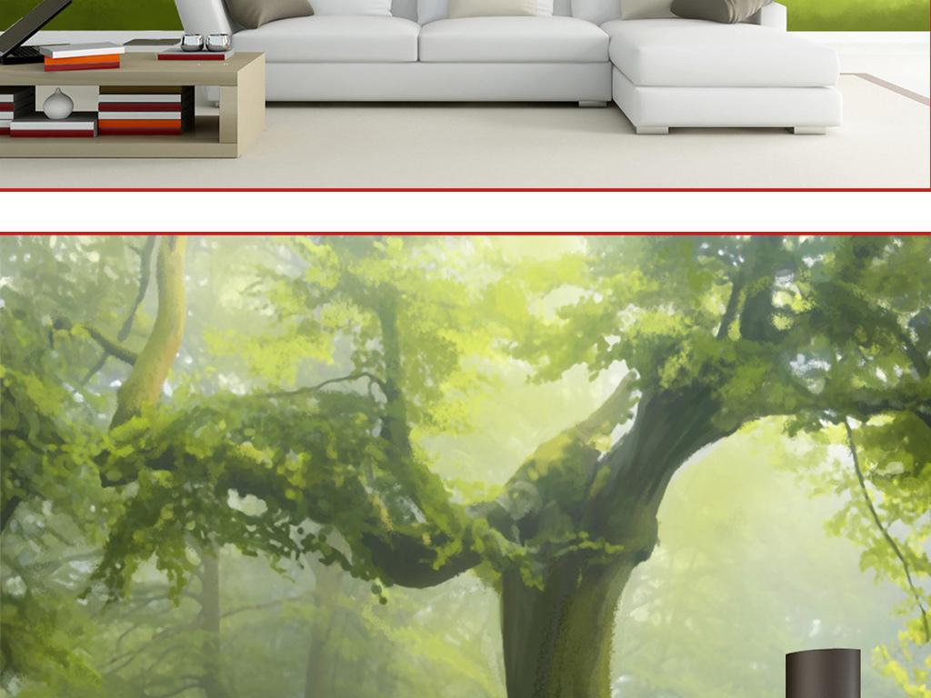 梦幻森林手绘图片