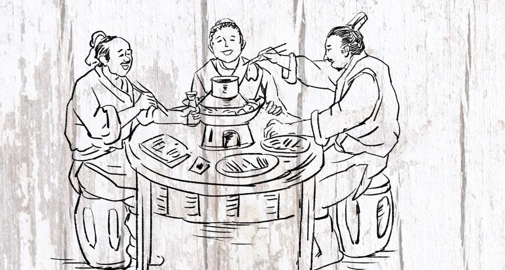 成都火锅手绘图