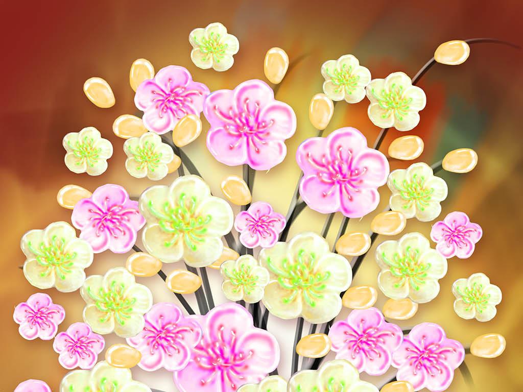 立体花朵花瓶玄关