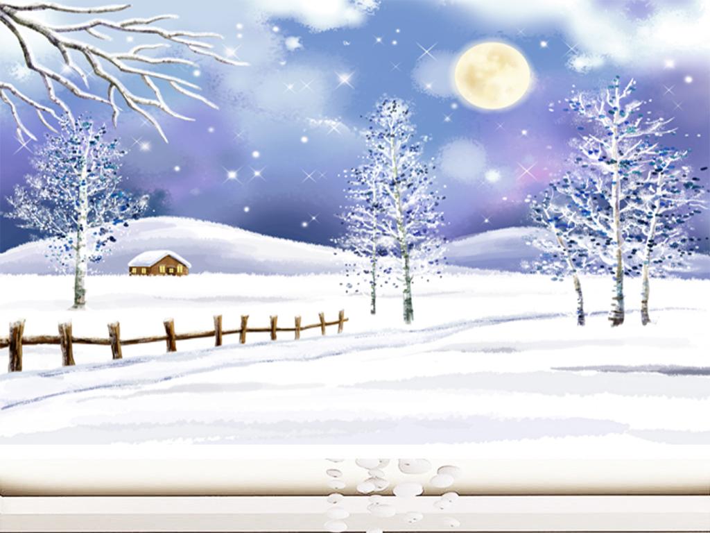 冬季图片手绘大全