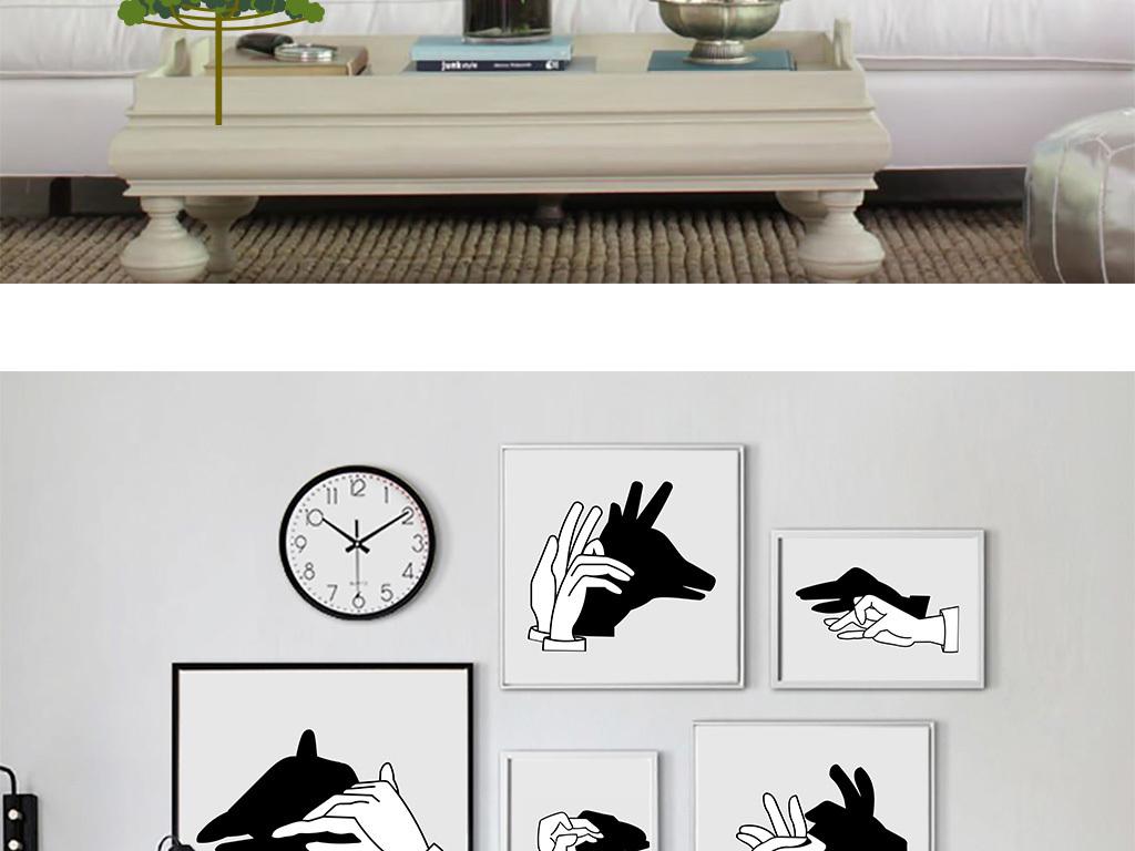 画黑白线条画小猫黑白画黑白建筑画黑白对比画动物