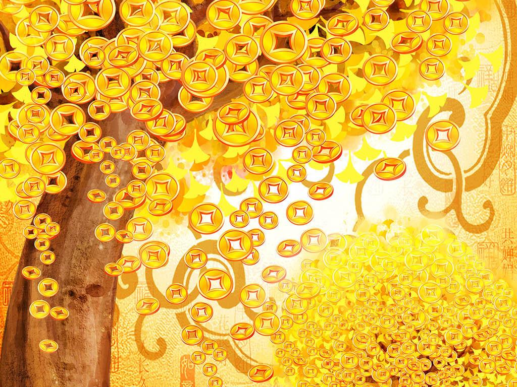 黄金满地中式玄关