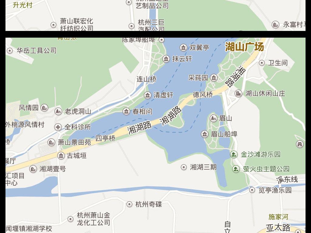 2016杭州市电子地图杭州市地图