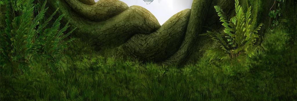 奇幻梦幻森林瀑布小岛海底世界3d地板地画