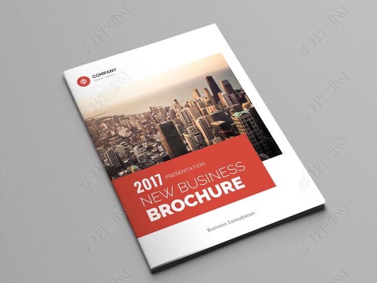 红色大气企业画册企业宣传册模板