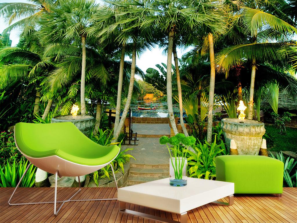 海南岛风景风景背景马尔代夫背景墙壁画椰树风景马尔代夫风景电视背景