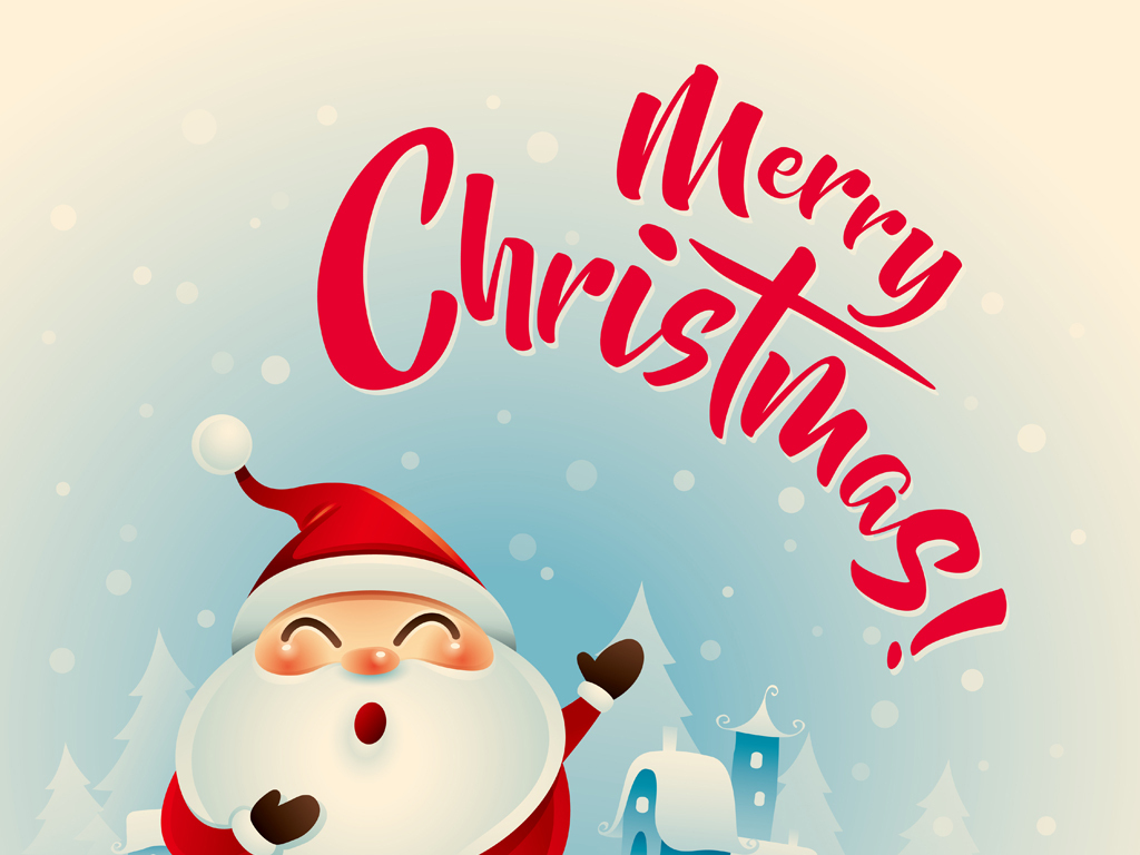 卡通圣诞老人圣诞节素材圣诞节贺卡