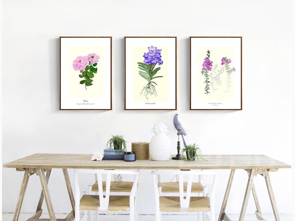 手绘花卉简约风格高清装饰画简约宜家宜家图片宜家家居上海宜家家居