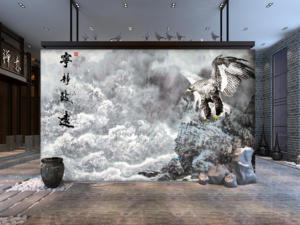 墙手绘背景墙玉雕背景墙电视背景墙壁画玄关背景墙
