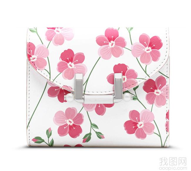 时尚手绘花朵图案包包镂空花纹图案