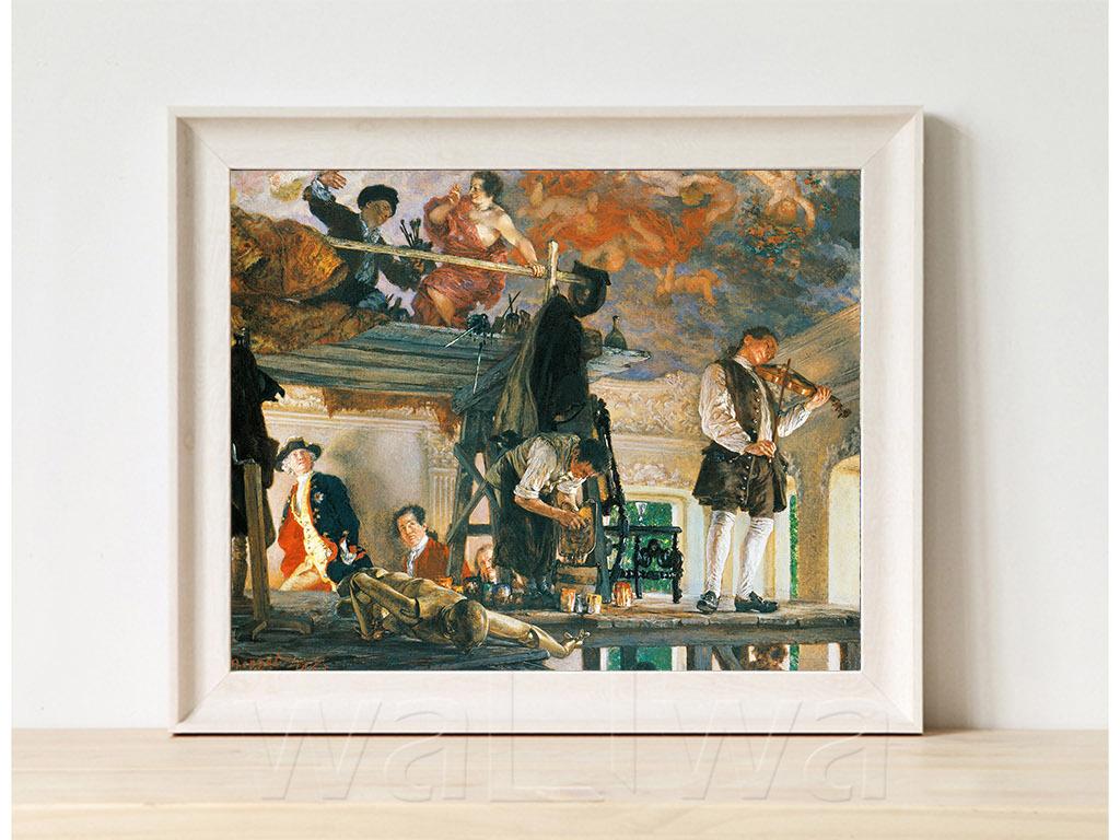 高清手绘欧式古典写实风格油画