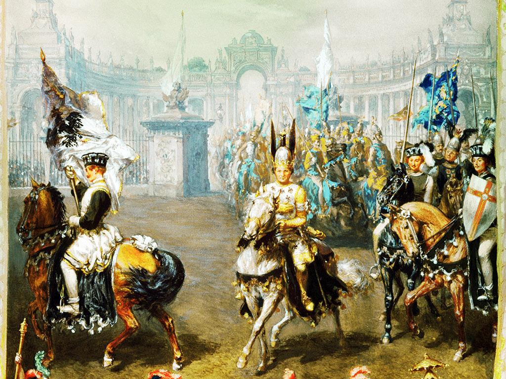 高清手绘欧式古典写实风格宫廷贵妇油画图片