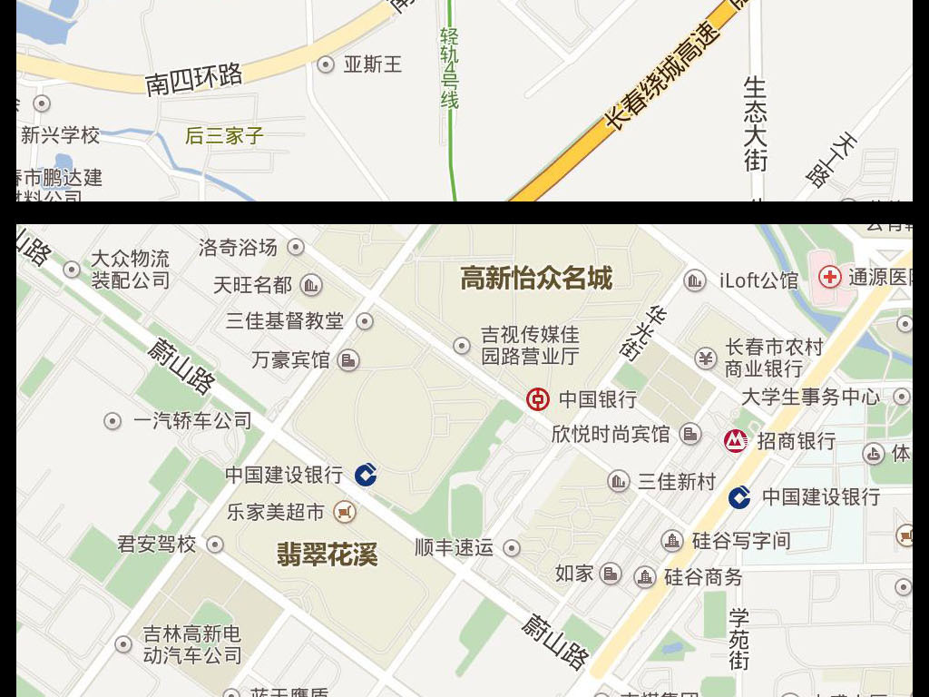 2016长春市电子地图图片下载
