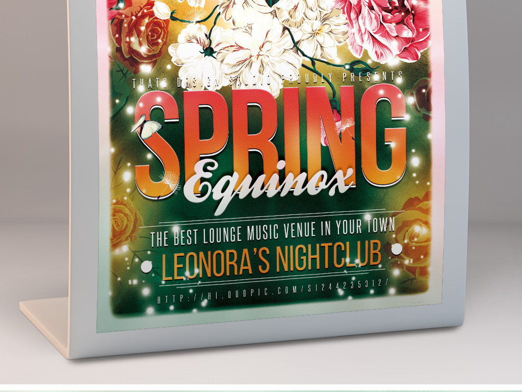 怀旧文艺绚丽手绘春季活动宣传海报模板
