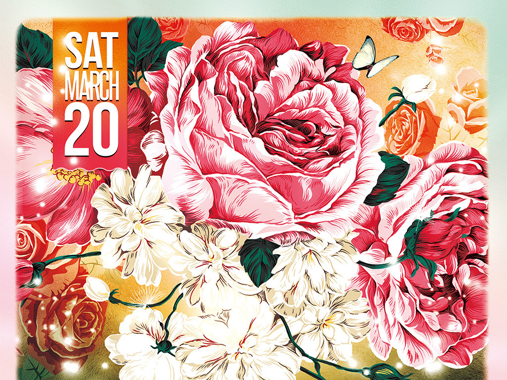 春天风情手绘宣传海报活动宣传海报春季手绘模板宣传海报模板文艺活动