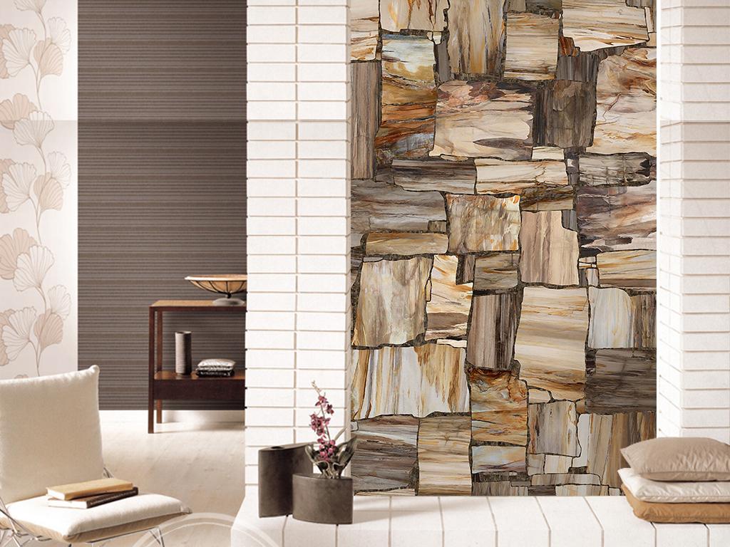 提供精品流行欧式拼贴大理石纹玄关背景墙素材下载