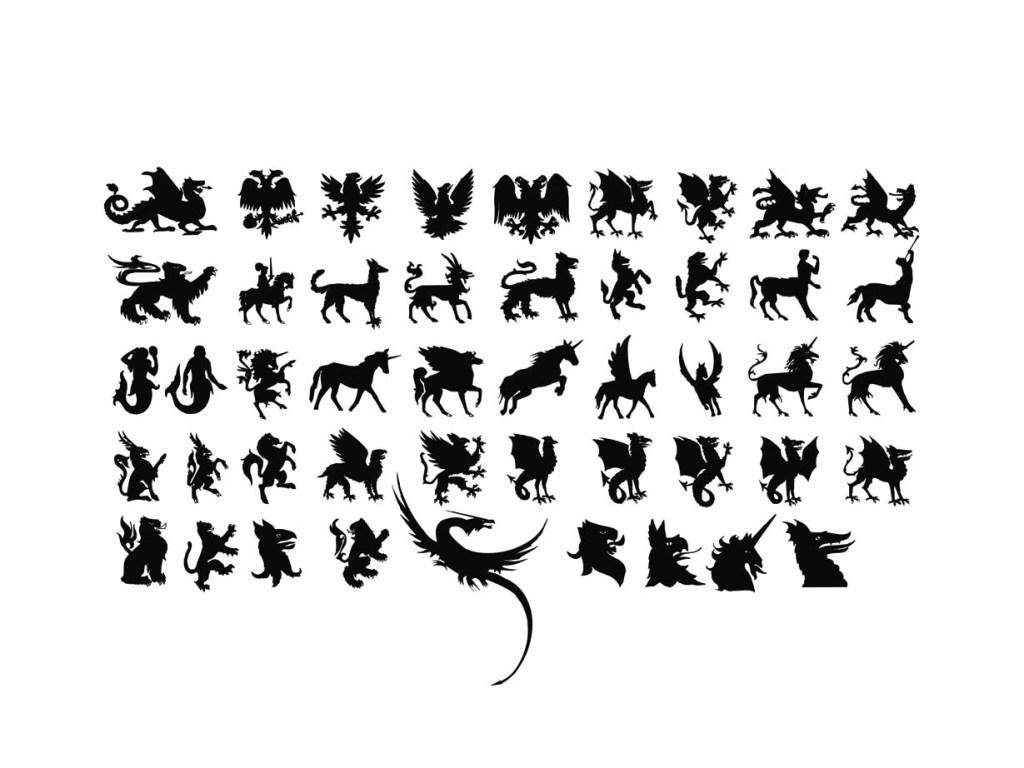 幻想虚构动物矢量素材(图片编号:15860061)