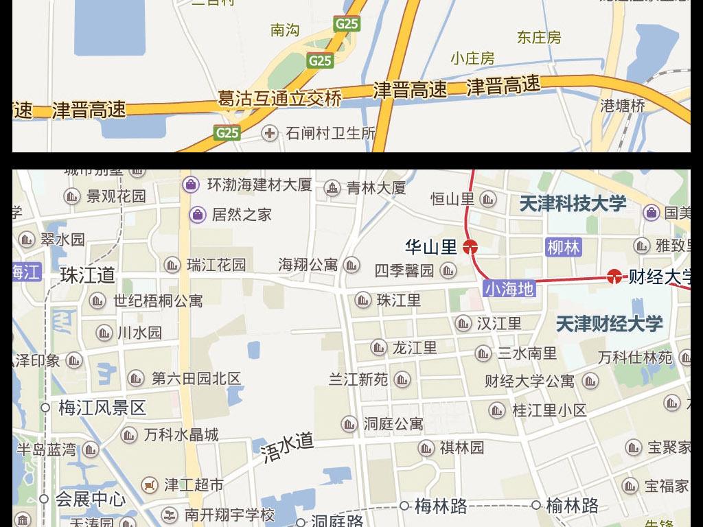 2016天津市电子地图图片下载