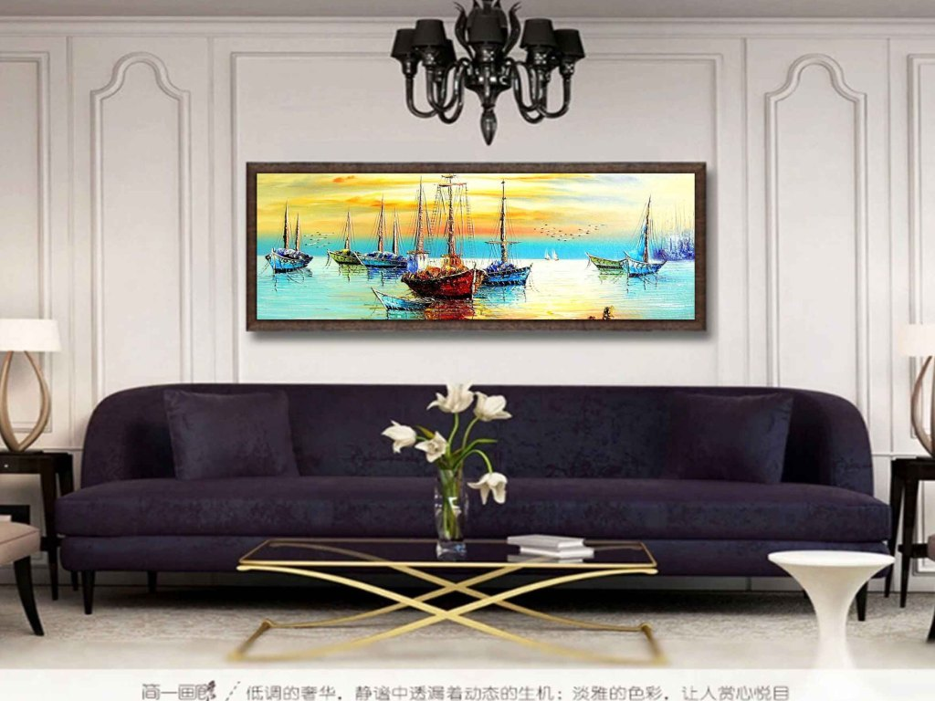 高清风景油画欧式简约唯美无框画图片