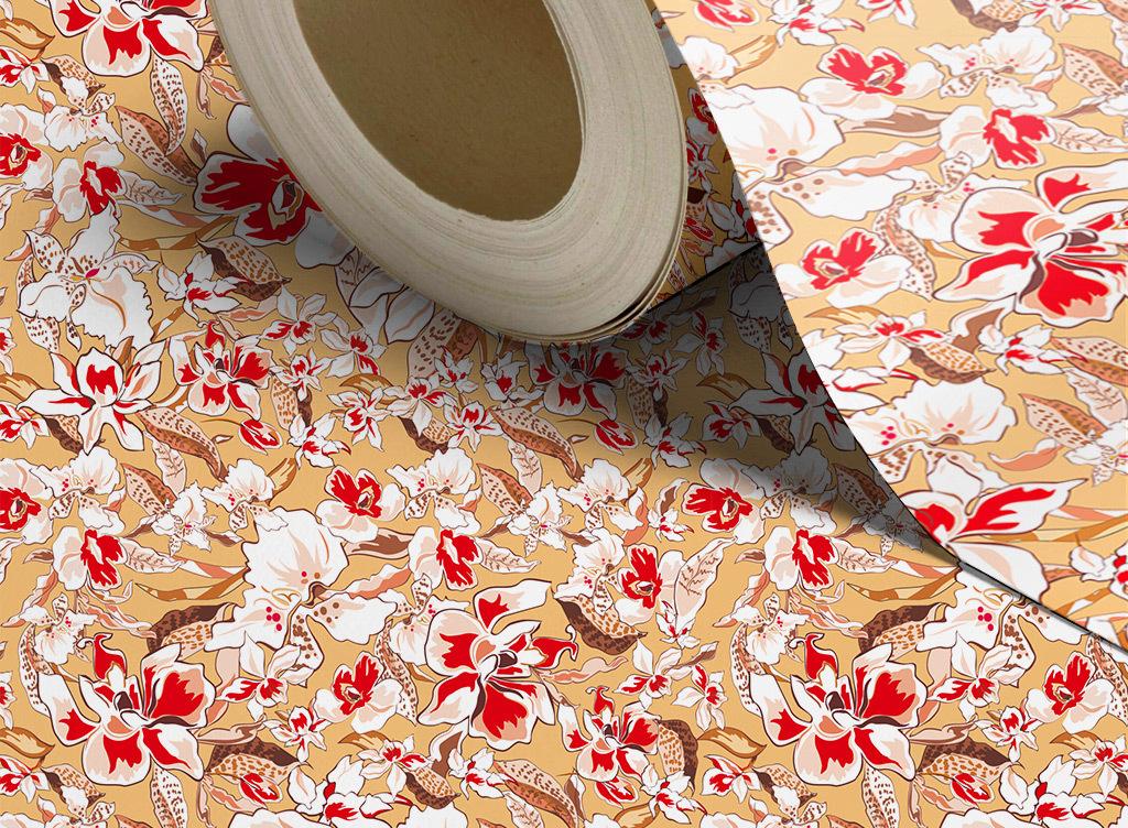 设计作品简介: 日本风花卉图案墙纸壁纸