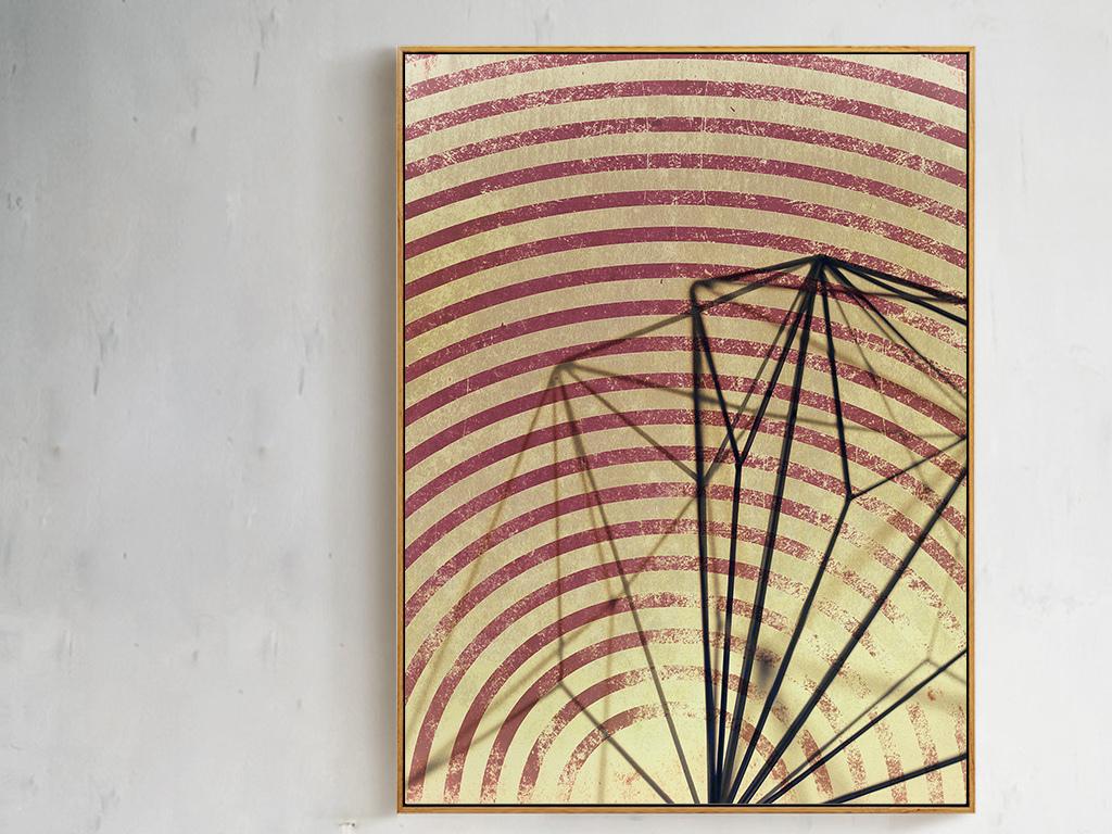 抽象艺术立体几何线条装饰画无框画