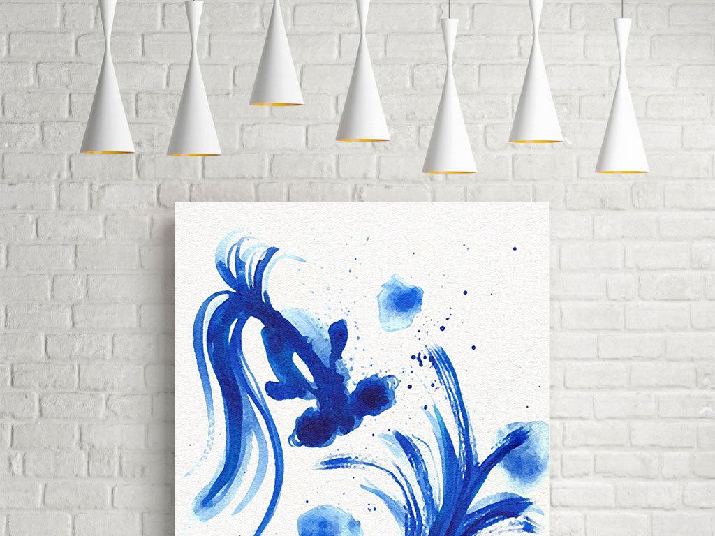 手绘水彩蓝色背景蓝色背景图蓝色天空蓝色底纹蓝色经典蓝色背景图片