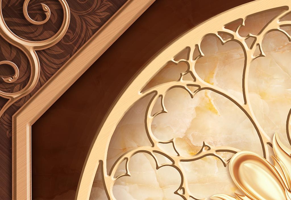 古典宫廷欧式花纹3d吊顶
