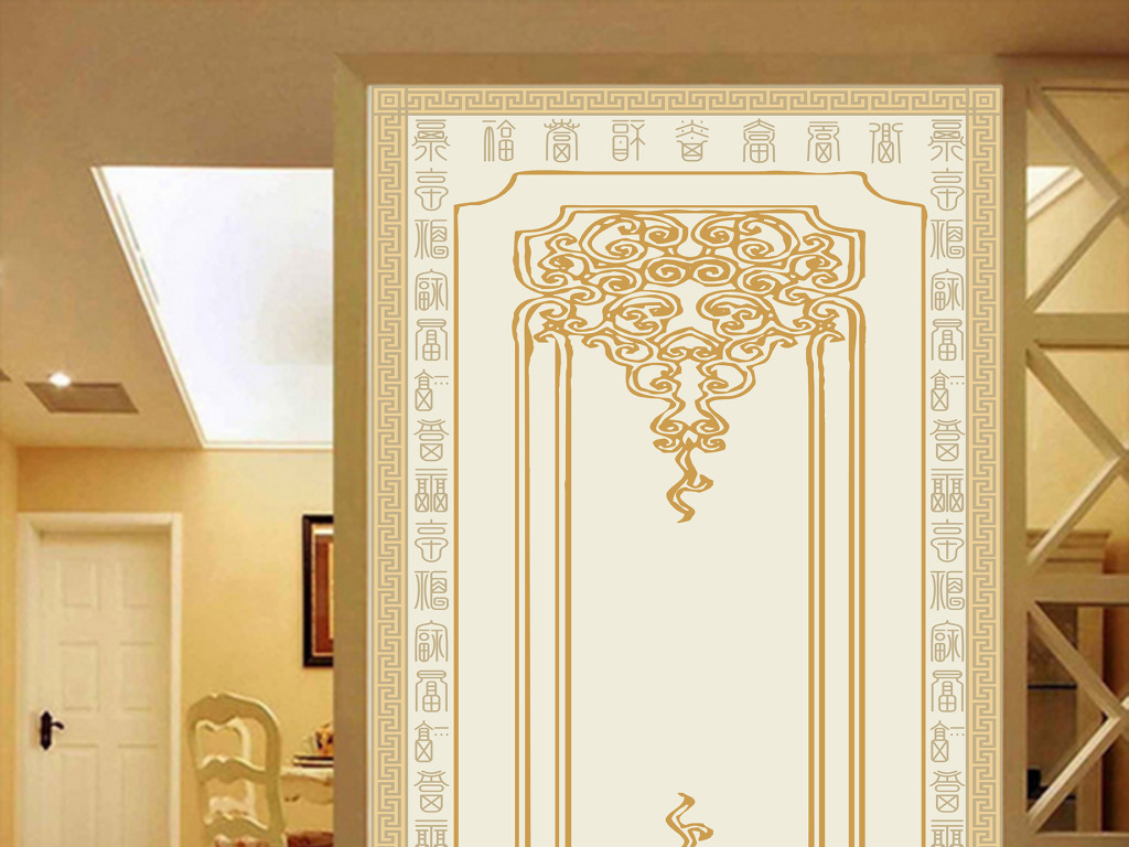 欧式装饰过道玄关背景墙图片