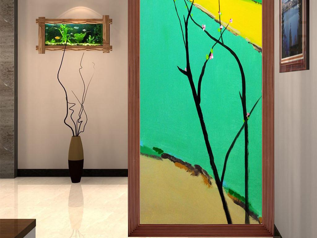 背景墙|装饰画 玄关 山水花鸟玄关图
