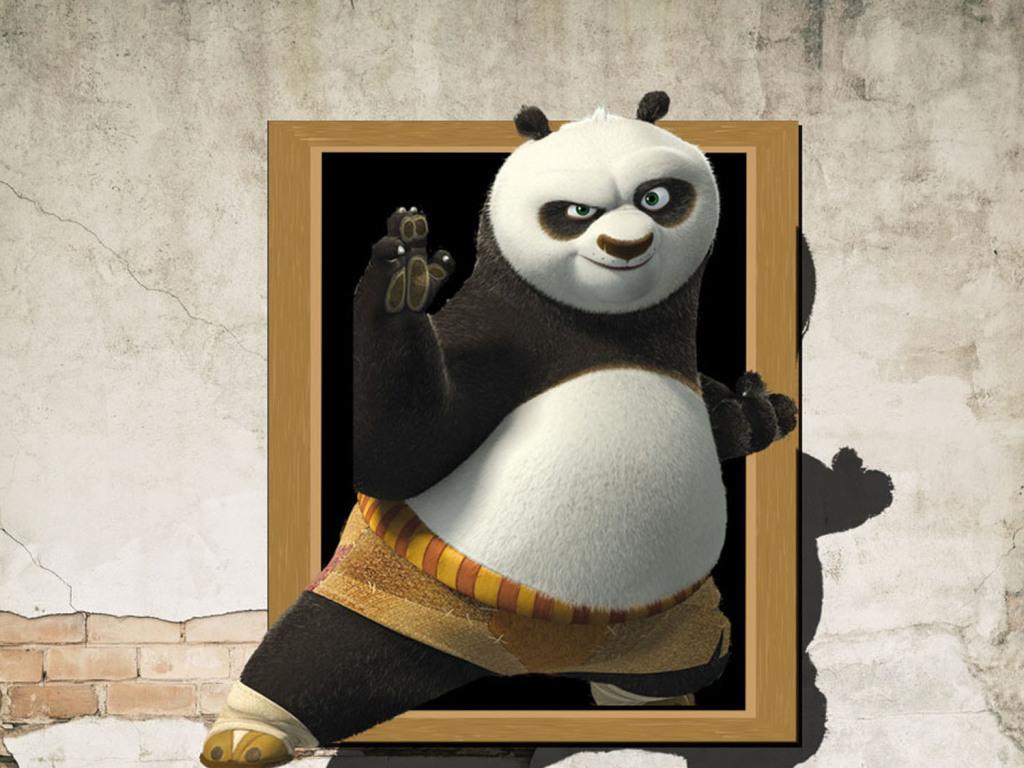 3d熊猫立体画
