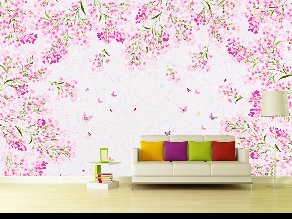 卧室手绘色彩水粉图