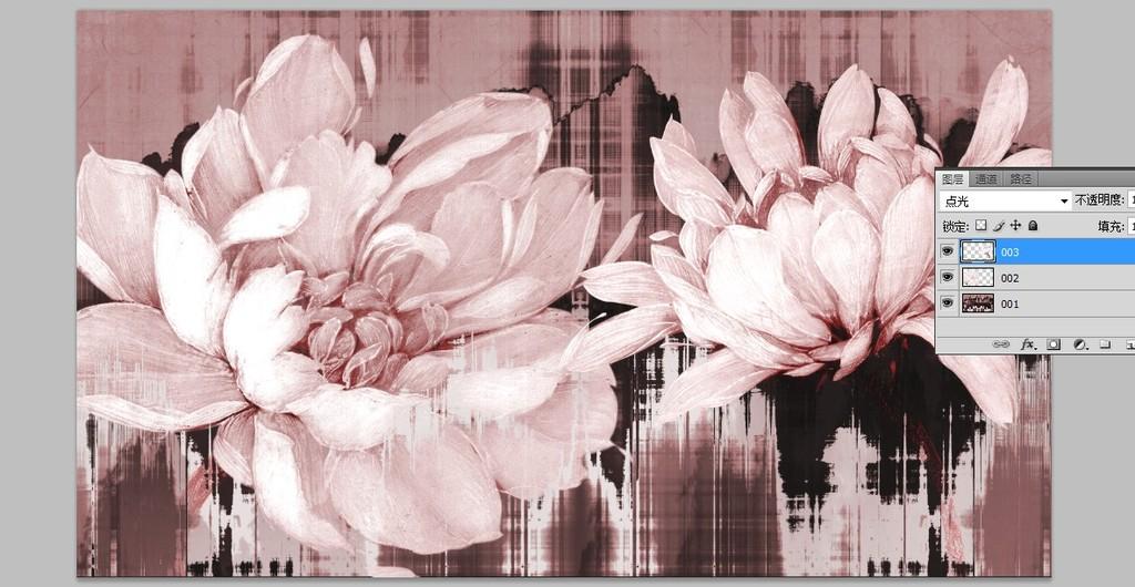 手绘花卉抽象花卉