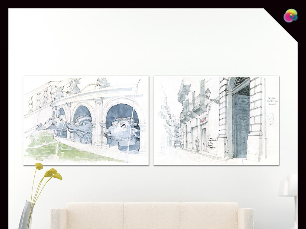 我图网提供精品流行高清北欧复古建筑装饰画喷绘手绘画芯插画素材下载,作品模板源文件可以编辑替换,设计作品简介: 高清北欧复古建筑装饰画喷绘手绘画芯插画 位图, CMYK格式高清大图, 欧美 建筑