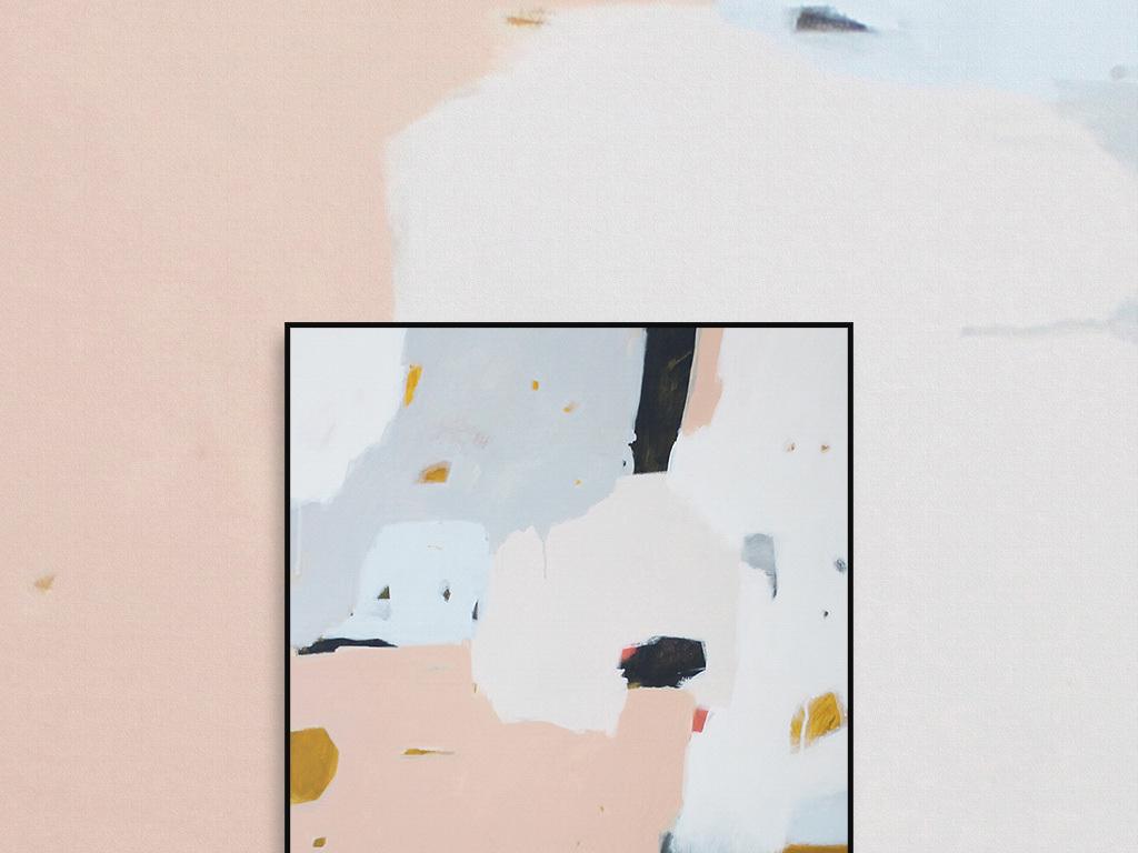 油画书房餐厅可爱儿童房间背景墙油画咖啡馆宜家风格