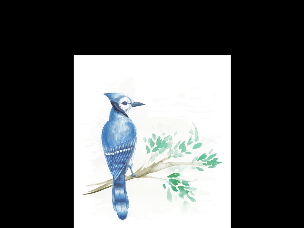 无框画 动物图案无框画 > 超高清原创手绘水彩小清新风格简约装饰画