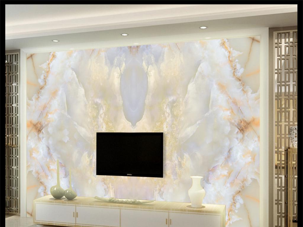 沙发电视背景墙玉玉石纹大气石材山水大理石纹欧式