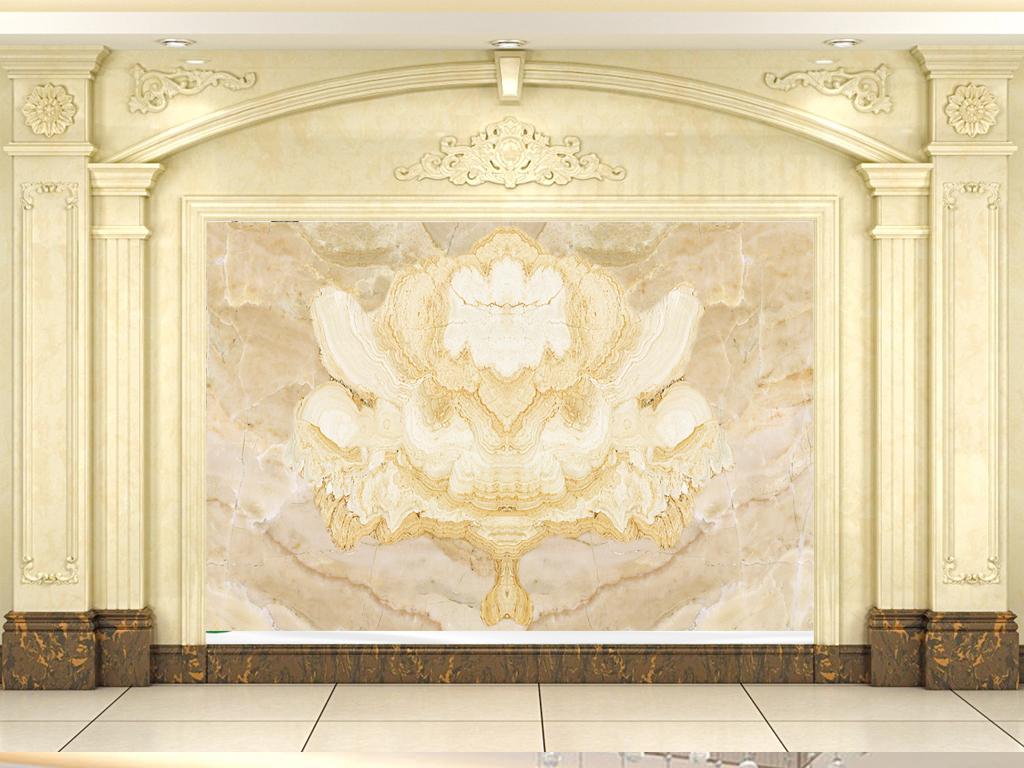 欧式皇家花纹大理石背景墙(图片编号:15867228)