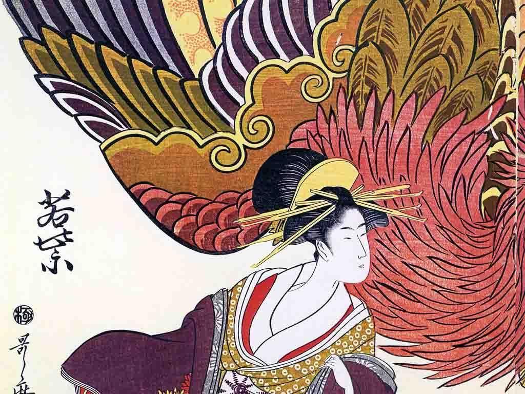日本艺伎手绘动漫