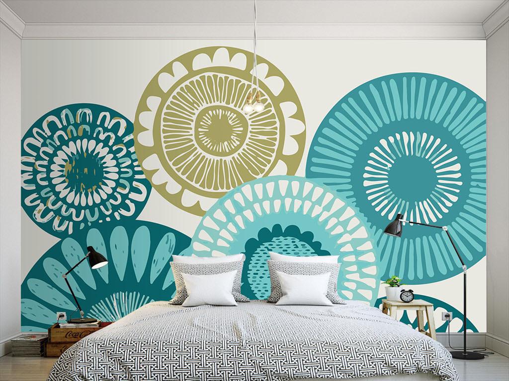 线条简约手绘现代手绘室内设计室内装饰画室内窗户设